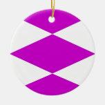 Ornamentos de las formas de los diamantes ornamentos de navidad