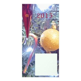 Ornamentos de las vacaciones de invierno tarjetas fotográficas personalizadas