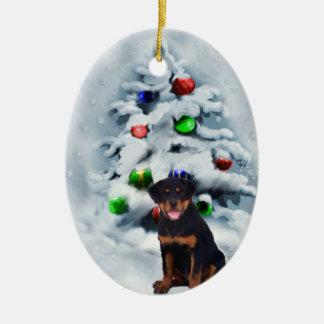Ornamentos de los regalos del navidad del perrito ornamento de navidad