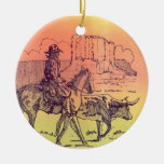 ornamentos de los rimrocks del toro del vaquero ornatos