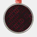 Ornamentos de los sistemas nulos (rojos en negro) ornamento de navidad