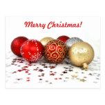 Ornamentos de lujo de la bola del navidad con las  tarjetas postales