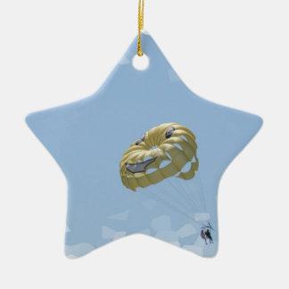 Ornamentos de Parasail Adorno Navideño De Cerámica En Forma De Estrella