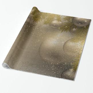 Ornamentos de plata del oro papel de regalo