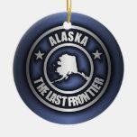"""Ornamentos decorativos de acero de """"Alaska"""" Adorno Navideño Redondo De Cerámica"""