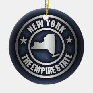 """Ornamentos decorativos de acero de """"Nueva York"""" Adorno Navideño Redondo De Cerámica"""