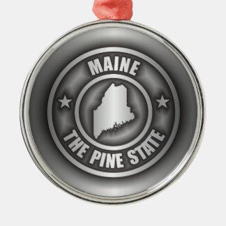 """""""Ornamentos del acero de Maine"""" Adorno Navideño Redondo De Metal"""