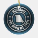 """""""Ornamentos del acero de Missouri (azul)"""" Adornos"""