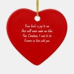 Ornamentos del amor del navidad adorno de reyes