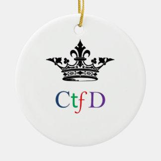 Ornamentos del árbol de navidad de CTFD Ornamento De Navidad