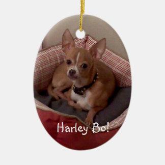 ornamentos del árbol de navidad de la foto del adorno navideño ovalado de cerámica