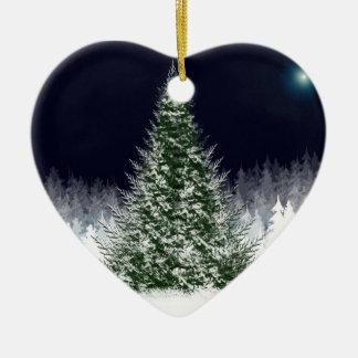 Ornamentos del árbol de navidad adorno de cerámica en forma de corazón