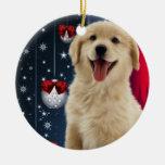 Ornamentos del árbol de navidad del golden retriev adornos