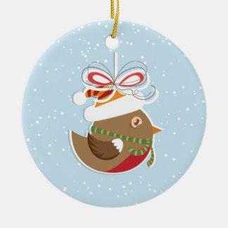 Ornamentos del árbol de navidad del pájaro de la n adorno de navidad