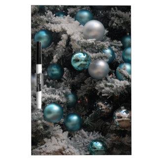 Ornamentos del árbol de navidad pizarra