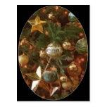 Ornamentos del árbol de navidad postales
