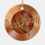Ornamentos del baloncesto. Baloncesto y jugador Ornamentos De Reyes Magos