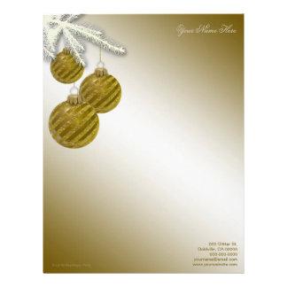 Ornamentos del brillo del oro membrete a diseño