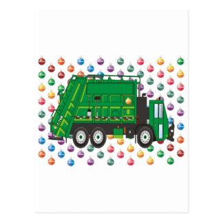 ornamentos del camión de basura postales