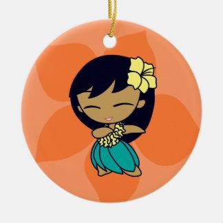 Ornamentos del chica de Hula de las mieles de la h Ornamento De Navidad