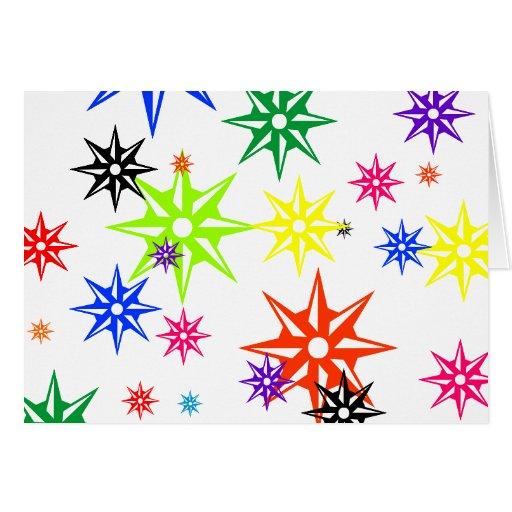 Ornamentos del día de fiesta del arco iris tarjeta de felicitación