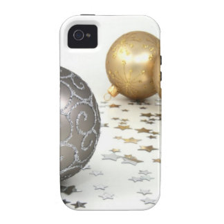 Ornamentos del día de fiesta para el navidad - pla Case-Mate iPhone 4 fundas
