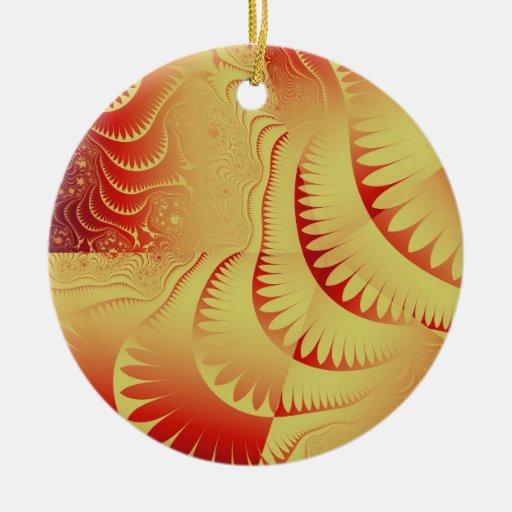 Ornamentos del diseñador de Leslie Harlow Adorno Navideño Redondo De Cerámica