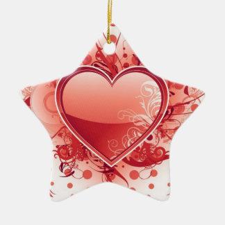 Ornamentos del diseño del corazón de Emo Adornos De Navidad
