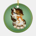 Ornamentos del gatito adornos de navidad