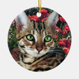 Ornamentos del gato de Bengala Ornamento De Navidad
