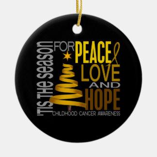 Ornamentos del navidad 1 del cáncer de la niñez ornamentos de reyes