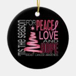 Ornamentos del navidad 1 del cáncer de pecho ornamentos de reyes