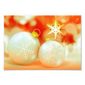 Ornamentos del navidad blanco fotografia