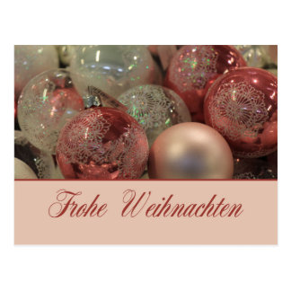 Ornamentos del navidad de Frohe Weihnachten Postal