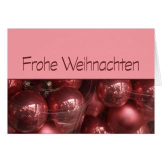 Ornamentos del navidad de Frohe Weihnachten Tarjeta De Felicitación
