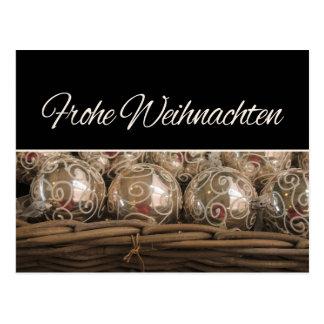 Ornamentos del navidad de Frohe Weihnachten Tarjetas Postales