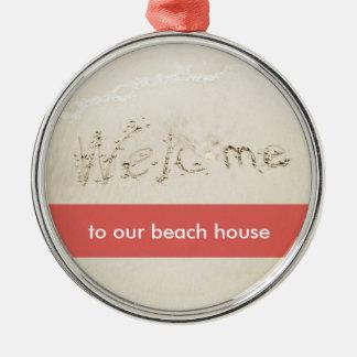Ornamentos del navidad de la escritura de la playa ornamento de navidad