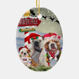 Ornamentos del navidad de la familia de Santa del  Adornos De Navidad