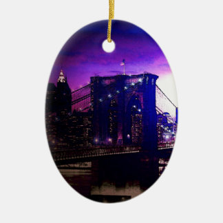 Ornamentos del navidad de la noche del puente de B Ornamentos De Reyes