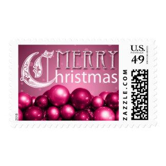 Ornamentos del navidad de las rosas fuertes de los timbres postales