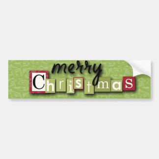 Ornamentos del navidad de Scrapbooking Pegatina Para Auto