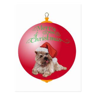 Ornamentos del navidad de Terrier de mojón Postales