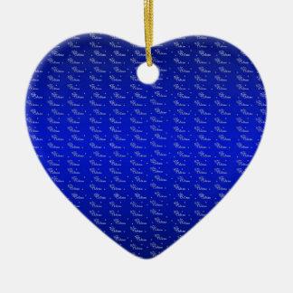 Ornamentos del navidad adorno de cerámica en forma de corazón