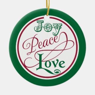 Ornamentos del navidad del amor de la paz de la ornamente de reyes