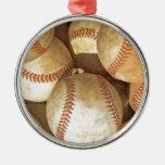 Ornamentos del navidad del béisbol adorno