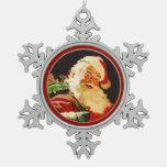 Ornamentos del navidad del copo de nieve de Papá N Adornos