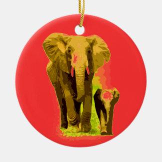Ornamentos del navidad del elefante y del elefante ornamento para arbol de navidad