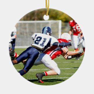 Ornamentos del navidad del fútbol americano adornos de navidad