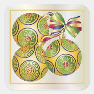 Ornamentos del navidad del Mah Jongg Colcomanias Cuadradas Personalizadas