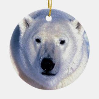 Ornamentos del navidad del oso polar adornos de navidad